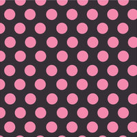 Black with pink dots craft  vinyl - HTV -  Adhesive Vinyl -  large polka dot pattern  HTV781 - Breeze Crafts