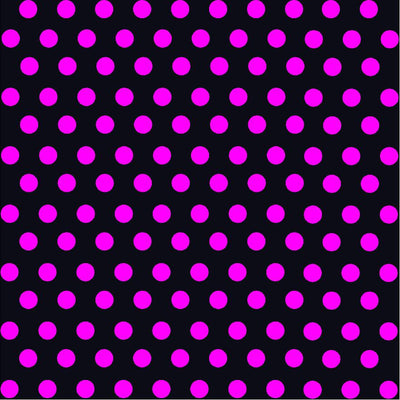 Black with magenta polka dot pattern craft  vinyl - HTV -  Adhesive Vinyl -  medium polka dots HTV1680 - Breeze Crafts