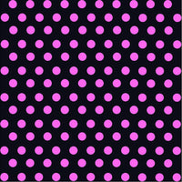 Black with pink polka dot pattern craft  vinyl - HTV -  Adhesive Vinyl -  medium polka dots HTV1681 - Breeze Crafts