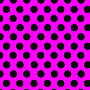Magenta with black dots craft  vinyl - HTV -  Adhesive Vinyl -  large polka dot pattern  HTV783