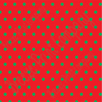 Red with green polka dots craft  vinyl - HTV -  Adhesive Vinyl -  small polka dot pattern   HTV183
