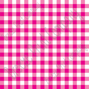 Magenta pink and white buffalo check craft  vinyl pattern sheet - HTV -  Adhesive Vinyl -  htv3402