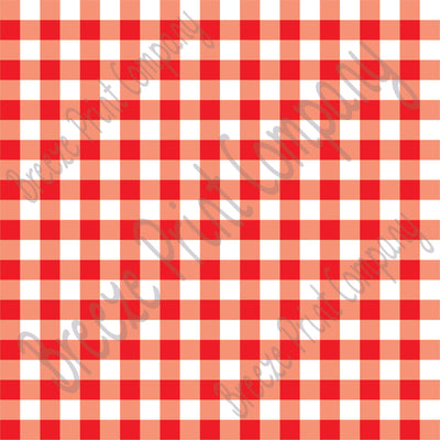 Red and white buffalo check craft  vinyl pattern sheet - HTV -  Adhesive Vinyl -  htv3403