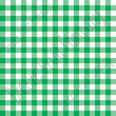 Green and white buffalo check craft  vinyl pattern sheet - HTV -  Adhesive Vinyl -  htv3404