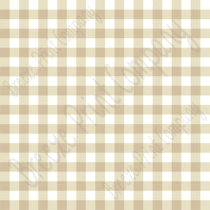 Beige and white buffalo check craft craft vinyl pattern sheet - HTV -  Adhesive Vinyl -  tan khaki htv3416 - Breeze Crafts