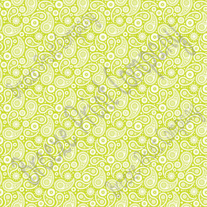 Lime and white paisley pattern craft  vinyl sheet - HTV -  Adhesive Vinyl -  lime green HTV1913
