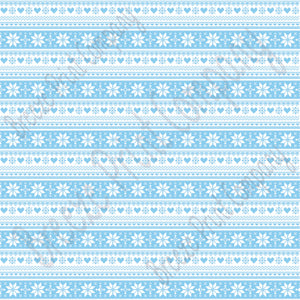 Light blue and white Christmas pattern craft  vinyl sheet - HTV -  Adhesive Vinyl -  Nordic knitted sweater pattern HTV3607