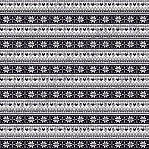Black and white Christmas pattern craft  vinyl sheet - HTV -  Adhesive Vinyl -  Nordic knitted sweater pattern HTV3609 - Breeze Crafts