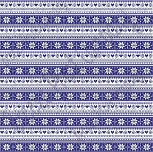 Navy and white Christmas pattern craft  vinyl sheet - HTV -  Adhesive Vinyl -  Nordic knitted sweater pattern HTV3610