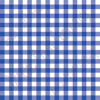 Blue and white buffalo check craft  vinyl pattern sheet - HTV -  Adhesive Vinyl -  htv3401 - Breeze Crafts
