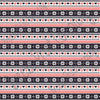 Black, red and white Christmas pattern craft  vinyl sheet - HTV -  Adhesive Vinyl -  Nordic knitted sweater pattern HTV3604 - Breeze Crafts