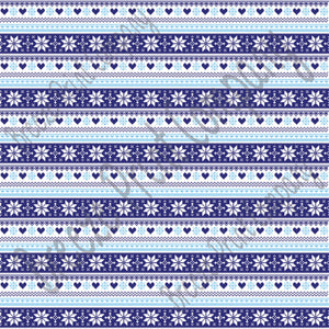Navy, light blue and white Christmas pattern craft  vinyl sheet - HTV -  Adhesive Vinyl -  Nordic knitted sweater pattern HTV3606