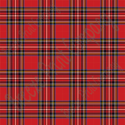 Red tartan plaid craft  vinyl sheet - HTV -  Adhesive Vinyl -  HTV1800