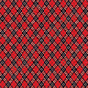 Red and black argyle plaid craft  vinyl sheet - HTV -  Adhesive Vinyl -  HTV3800