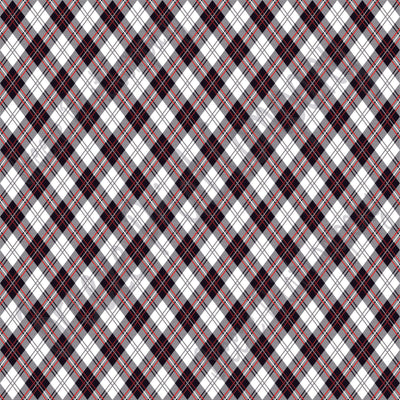 White, black and red argyle plaid craft  vinyl sheet - HTV -  Adhesive Vinyl -  Christmas HTV3803