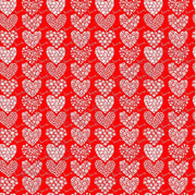 Red and white floral heart craft  vinyl sheet - HTV -  Adhesive Vinyl -  Valentine's Day HTV3900