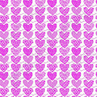 White with magenta floral heart craft  vinyl sheet - HTV -  Adhesive Vinyl -  Valentine's Day HTV3903
