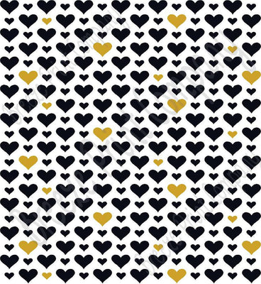 White with black and gold heart craft  vinyl sheet - HTV -  Adhesive Vinyl -  Valentine's Day HTV3925