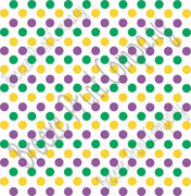 Purple, green and yellow dot pattern craft  vinyl - HTV -  Adhesive Vinyl -  medium polka dots Mardi Gras colors HTV1630