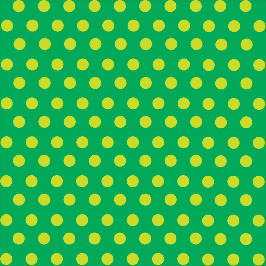 Green with lime polka dot pattern craft  vinyl - HTV -  Adhesive Vinyl -  medium polka dots HTV1633