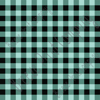 Mint and black buffalo plaid craft  vinyl sheet - HTV -  Adhesive Vinyl -  lumberjack plaid buffalo check HTV1811