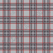 Grey tartan plaid craft  vinyl sheet - HTV -  Adhesive Vinyl -  with black red and white HTV1804