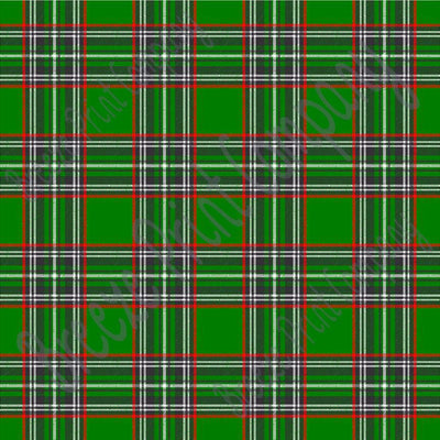Green tartan plaid craft  vinyl sheet - HTV -  Adhesive Vinyl -  with red, black and white Christmas HTV1806