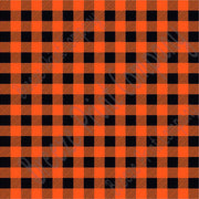 Orange and black buffalo plaid craft  vinyl sheet - HTV -  Adhesive Vinyl -  lumberjack plaid HTV1806