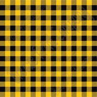 Yellow-gold and black buffalo plaid craft  vinyl sheet - HTV -  Adhesive Vinyl -  lumberjack plaid HTV1804