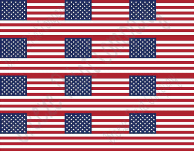 American flag print craft vinyl sheet - HTV -  Adhesive Vinyl -  12x15  HTV164 - Breeze Crafts