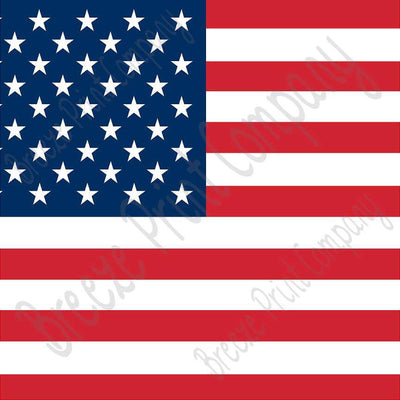 American flag print craft vinyl sheet - HTV - Adhesive Vinyl - HTV3 - Breeze Crafts