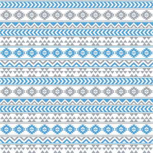 Grey, white and carolina blue tribal pattern craft vinyl - HTV -  Adhesive Vinyl -  Aztec Peruvian pattern HTV936