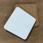 Sublimation coaster with cork back 3.75 x 3.75 inches