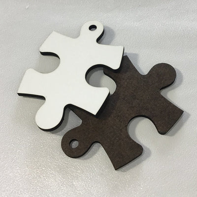Sublimation keychain 3 inch - Puzzle Piece - 1 sided, autism awareness