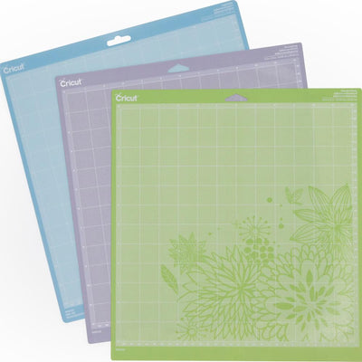 Provo Craft-Cricut Adhesive Back Cutting Mats: Green, Blue And Purple, cricut mat multi pack, high tack, low tack, regular mat, 3 pack