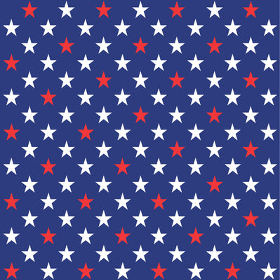 Navy with red and white large stars craft  vinyl sheet - HTV - Adhesive Vinyl - star pattern HTV2453