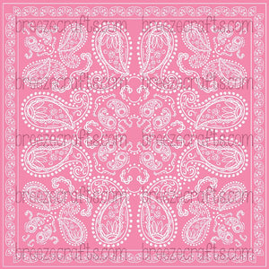pink and white patterned vinyl, bandana vinyl, paisley vinyl, breast cancer awareness pattern vinyl, htv, adhesive vinyl, heat transfer vinyl, pattern vinyl for shirts, decal vinyl