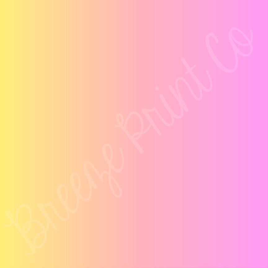 pink and yellow ombre patterned vinyl, pattern vinyl, sheets, gradient vinyl, fade, breeze print company