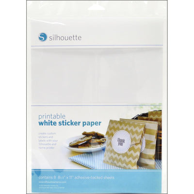 Silhouette Printable Sticker Paper 8.5