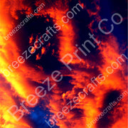 Orange and yellow sunset patterned craft vinyl sheets in adhesive vinyl or heat transfer vinyl