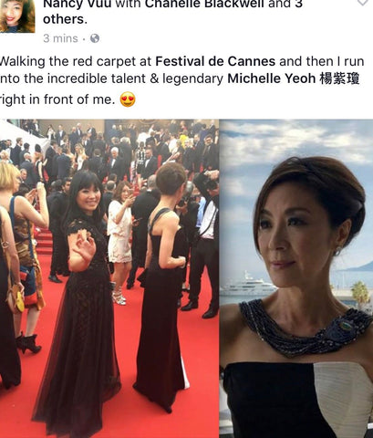 Nancy Vuu walking the red carpet at Festival de Cannes