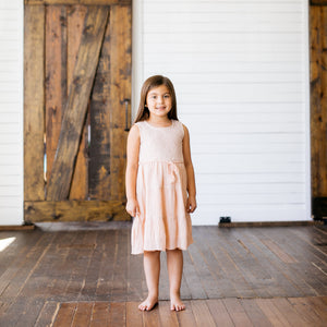 Baby Girl Clothes: model standing in lace dress