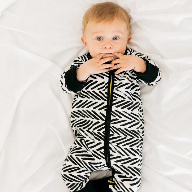 Baby Girl Clothes: zebra pajamas on boy