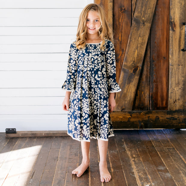 Baby Girl Clothes: model in long sleeve dress