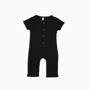 Baby Girl Clothes: full shot of black button