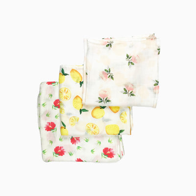 Baby Girl Clothes: set of three blankets