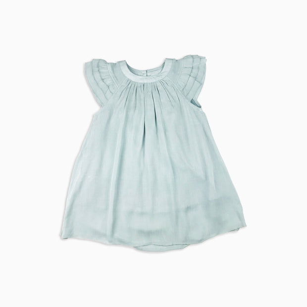 Baby Girl Clothes: flat lay of blue ruffle dress