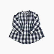 Baby Girl Clothes: flat lay of plaid tunic shirt