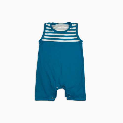 Baby Girl Clothes: blue striped romper
