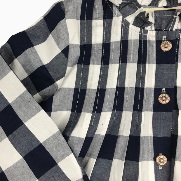 Baby Girl Clothes: close view of blue and white checkers